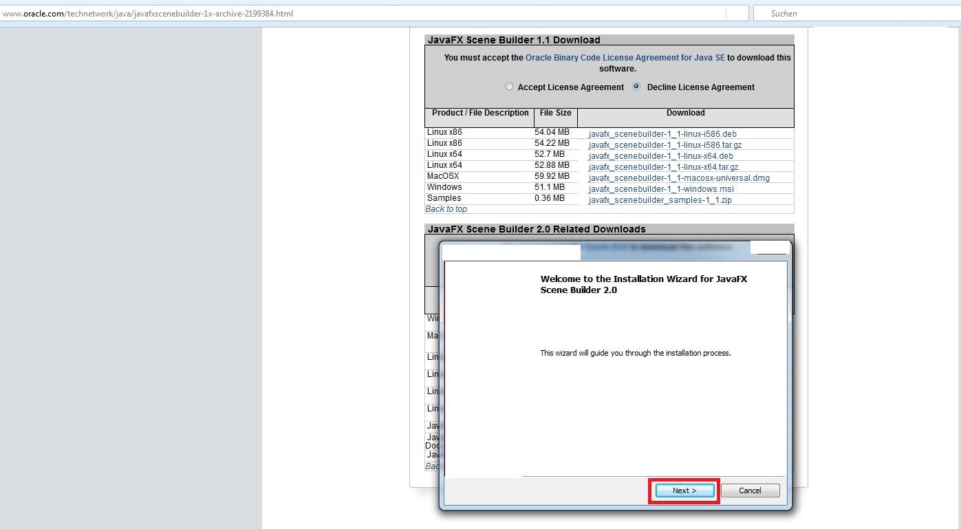 JavaFX Scene Builder 2 0 Download und Installation   rothlive de