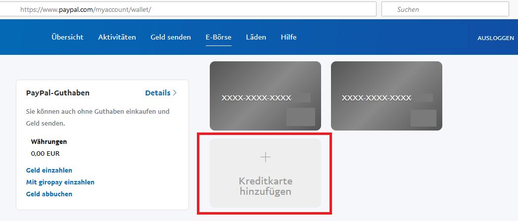 paypal kreditkarten verifizierung