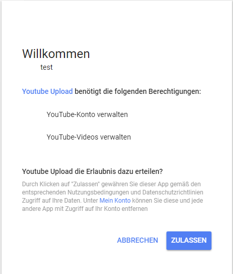 Youtube Kanal erster Upload2